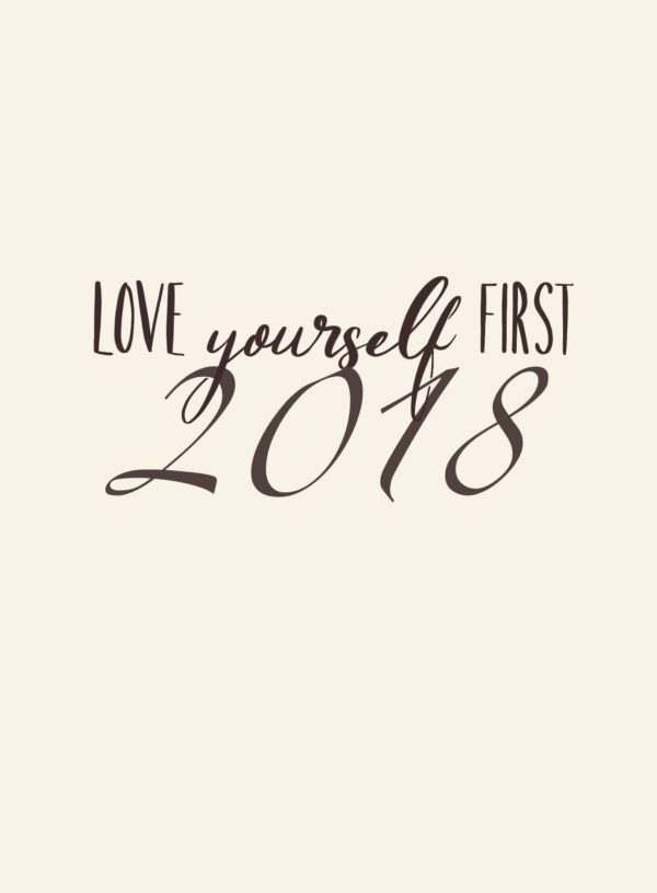 Kalendář 2018 Love yourself first