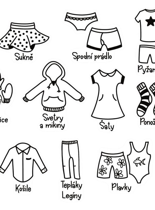 Samolepky Oblečení
